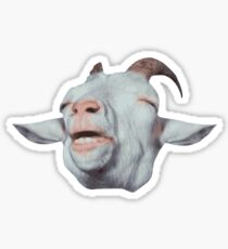Happy Goat is Faded Sticker