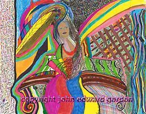 Lady in the Garden by johnedwardgordon dot com