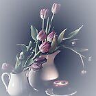 Spring Flower Arrangement / Tulips by Sherry Hallemeier