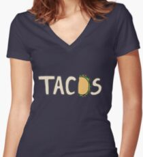 Tacos Women's Fitted V-Neck T-Shirt