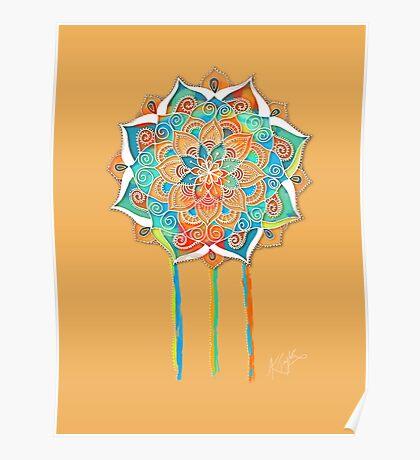 Sunshine Yellow Mandala Poster