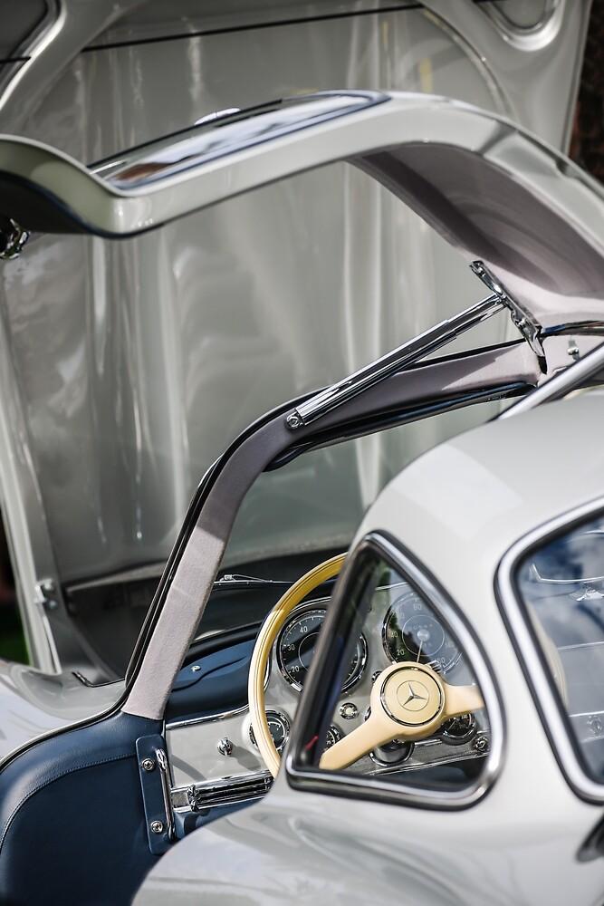 1954 Mercedes-Benz 300SL Gullwing Steering Wheel -1653c by Jill Reger
