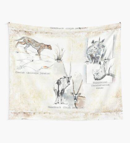 Lodge décor - Wildlife Triptych Wall Tapestry