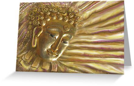 Golden Radiant Buddha by DAdeSimone