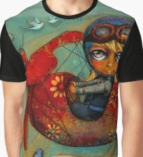 Little Red Plane Graphic T-Shirt