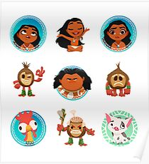 Moana Characters Poster