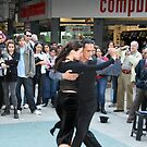 Street tango couple by Maggie Hegarty
