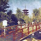 Kawasaki Daishi Five-Storied Pagoda and Bridge by Beverly Claire Kaiya