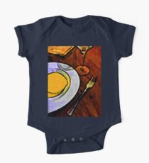 Gold Lemon and Fork One Piece - Short Sleeve