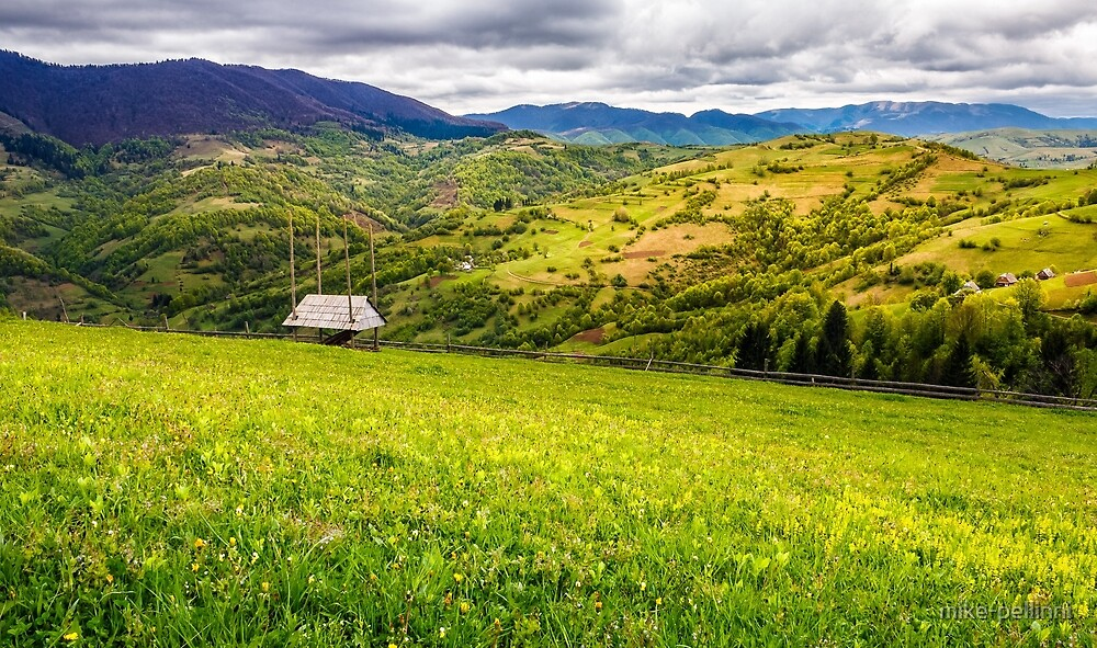 agricultural field in mountains by mike-pellinni