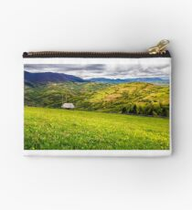 agricultural field in mountains Studio Pouch