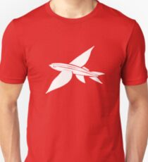 white flying fish Unisex T-Shirt