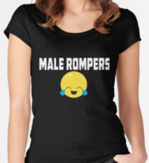 9e7e76326e44 Male Rompers Women s Fitted Scoop T-Shirt