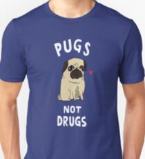 Pug not Drugs funny T-Shirt