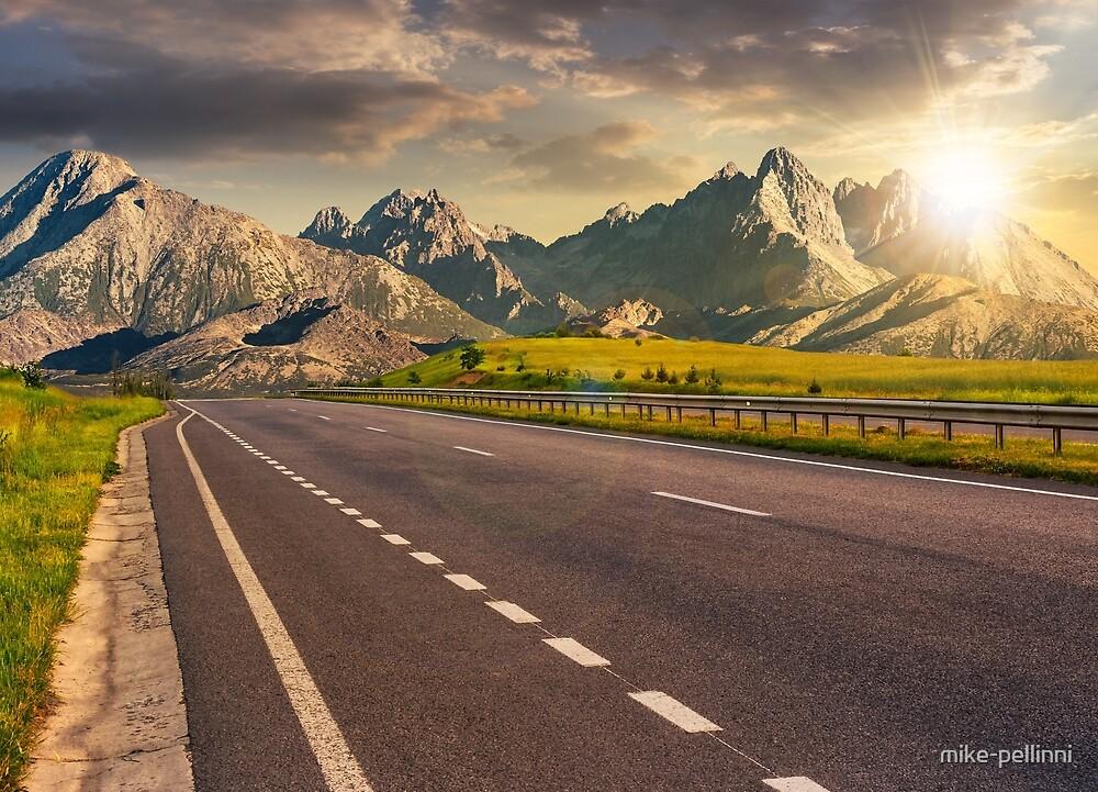 highway to the tatra mountain ridge by mike-pellinni