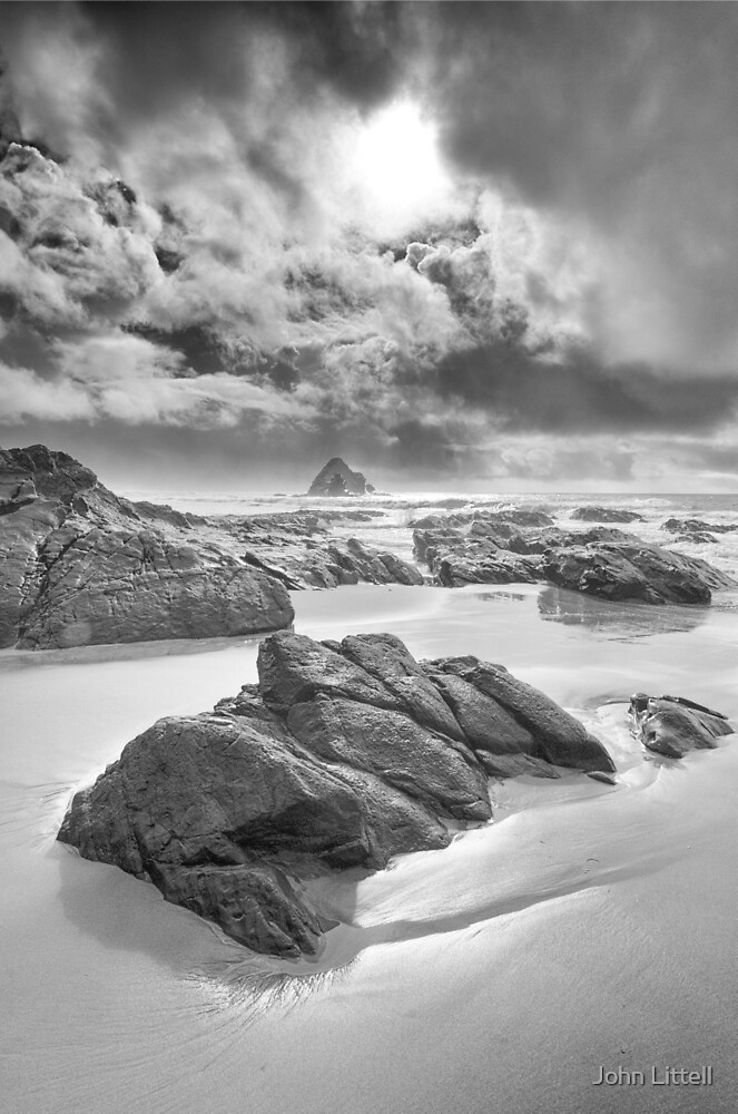 Storm, Anchor Bay, Mendocino County, California by John Littell