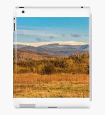 snowy peaks on the mountai top iPad Case/Skin