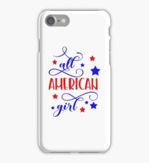 All American girl iPhone Case/Skin