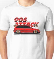 Honda Civic EF Hatchback - 90s Attack Unisex T-Shirt