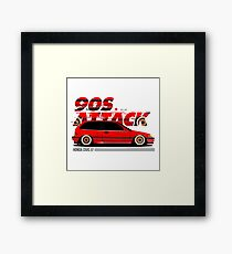 Honda Civic EF Hatchback - 90s Attack Framed Print