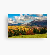mountain rural area in late autumn Canvas Print