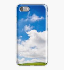 beautifull minimalistic summer mountain landscape in good weather iPhone Case/Skin