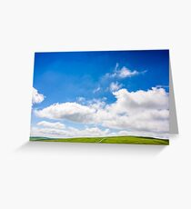 beautifull minimalistic summer mountain landscape in good weather Greeting Card