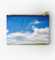 beautifull minimalistic summer mountain landscape in good weather Studio Pouch