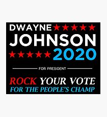 Vote The Rock 2020 Photographic Print