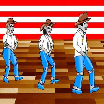 Robot line dancing by EddyG