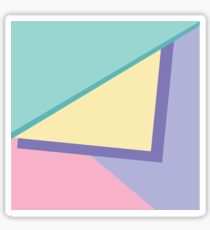 90s vibe pastel color blocks Sticker