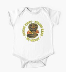Cobra kai – Strike First – Strike Hard – No Mercy – HD Yellow Light Variant Kids Clothes