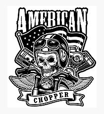 American Chopper Black Human Skull Photographic Print
