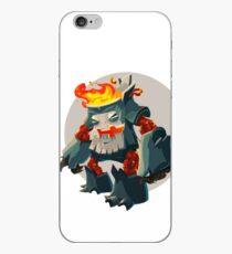 Burning Wood Man iPhone Case