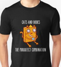 Cats And Books Unisex T-Shirt