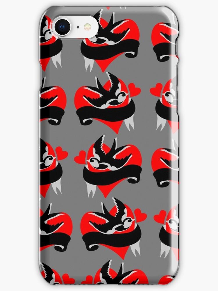 Kustom Rockabilly style iPhone case  by patjila