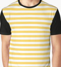 Daffodil Delight - Horizontal Line Graphic T-Shirt