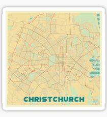 Christchurch Map Retro Sticker
