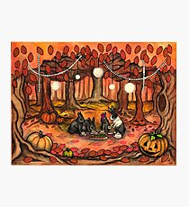 Autumn Tea Party Photographic Print