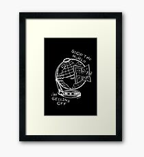 Stop The World - White Line Small Framed Print