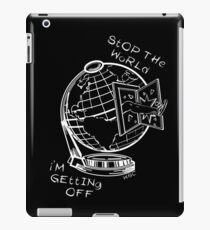 Stop The World - White Line Small iPad Case/Skin