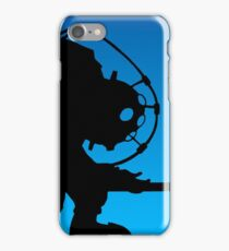 blue scary iPhone Case/Skin