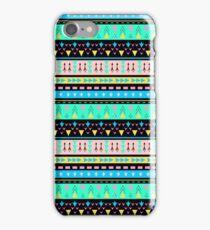 Colorful Boho Tribal Pattern 1 iPhone Case/Skin