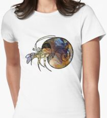Hermit Crab Womens Fitted T-Shirt