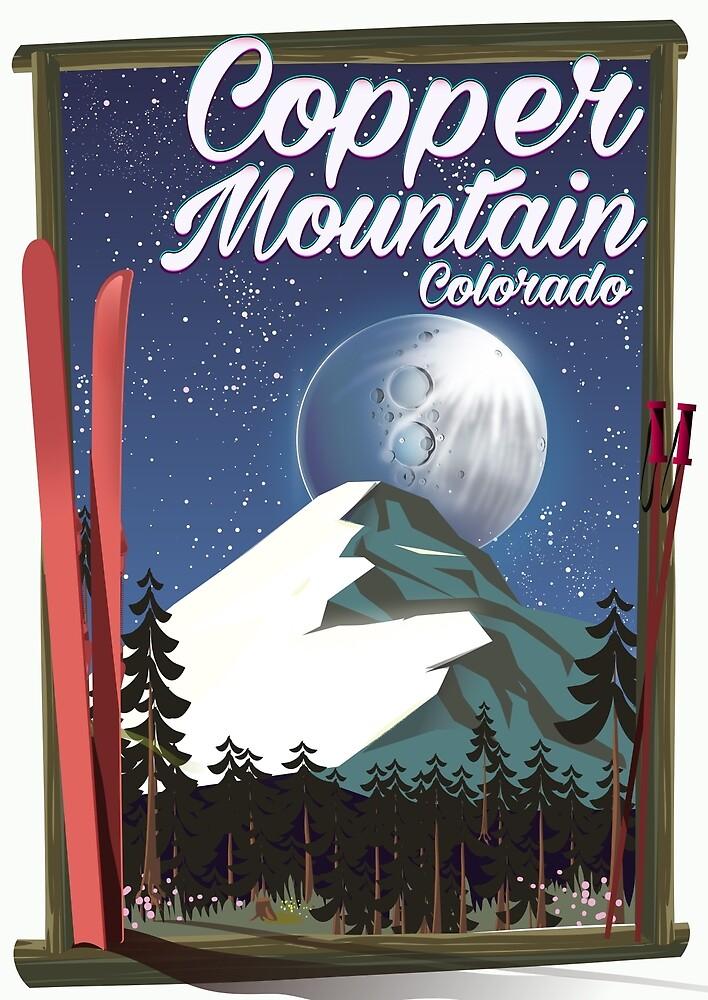 Colorado travel poster Copper Mountain by vectorwebstore