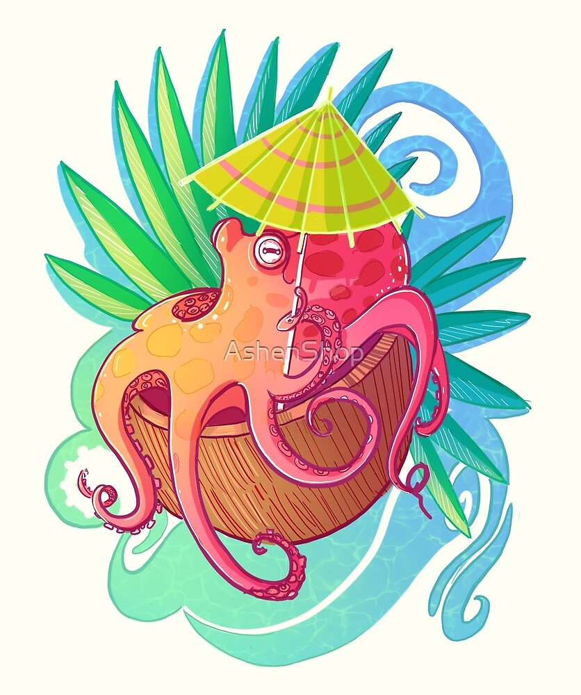 Octopus on the Beach by AshenShop