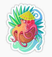 Octopus on the Beach Sticker
