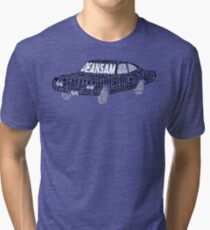 Supernatural Impala Typography Tri-blend T-Shirt