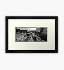 Berlin Rails Framed Print