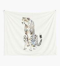 Watchful Cheetah | African Wildlife Wall Tapestry